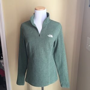 North Face pullover in sage green